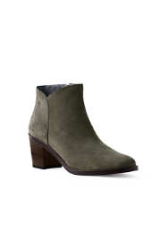 Women's Wide Heeled Asymmetric Booties