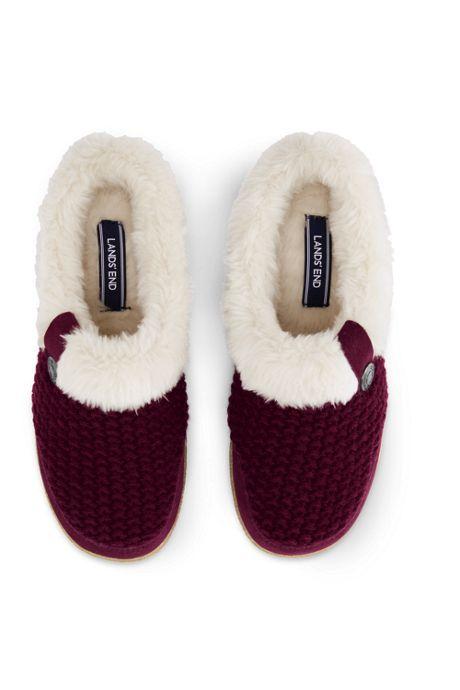 Women's Knit Sherpa Lined Slippers