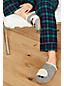 Les Pantoufles en Feutrine et Fausse Fourrure, Femme Pied Standard