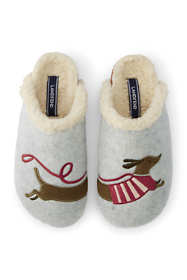 Women's Felt Animal Scuff Slippers