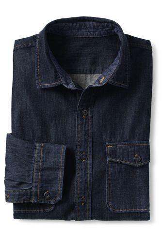 La Chemise en Jean Coupe Moderne, Homme Stature Standard
