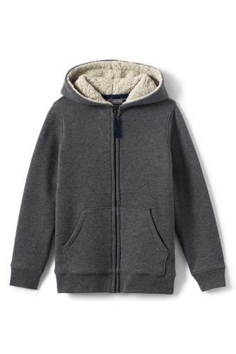 Le Hoodie Zippé Doublé de Polaire Sherpa, Petit Garçon