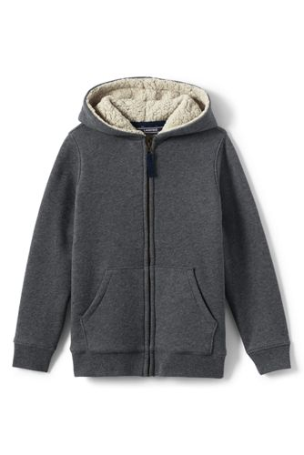 Toddler Boys Sherpa Lined Hoodie From Lands End
