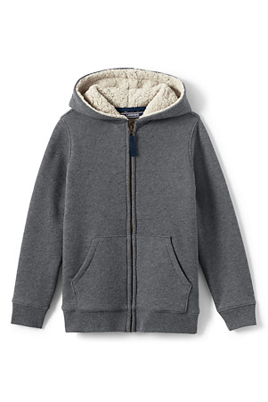 36866588a Boys' Sherpa-lined Hoodie | Lands' End