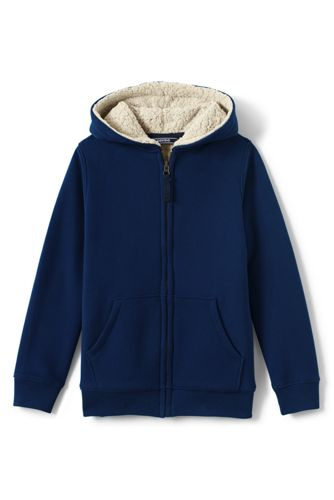 Boys Sherpa Lined Hoodie From Lands End