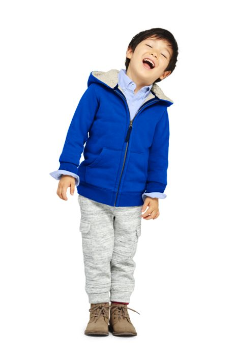 School Uniform Boys Husky Sherpa Lined Hoodie