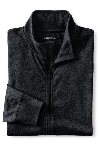 <ランズエンド>メンズ・スーパーT・ジップジャケット/XS/ブラック画像