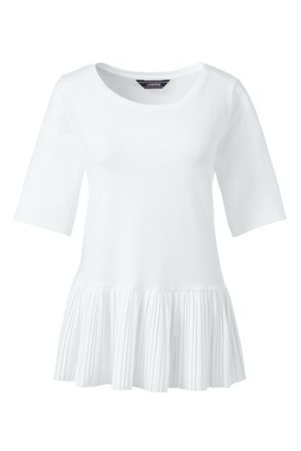 Shirt mit Plissee-Saum