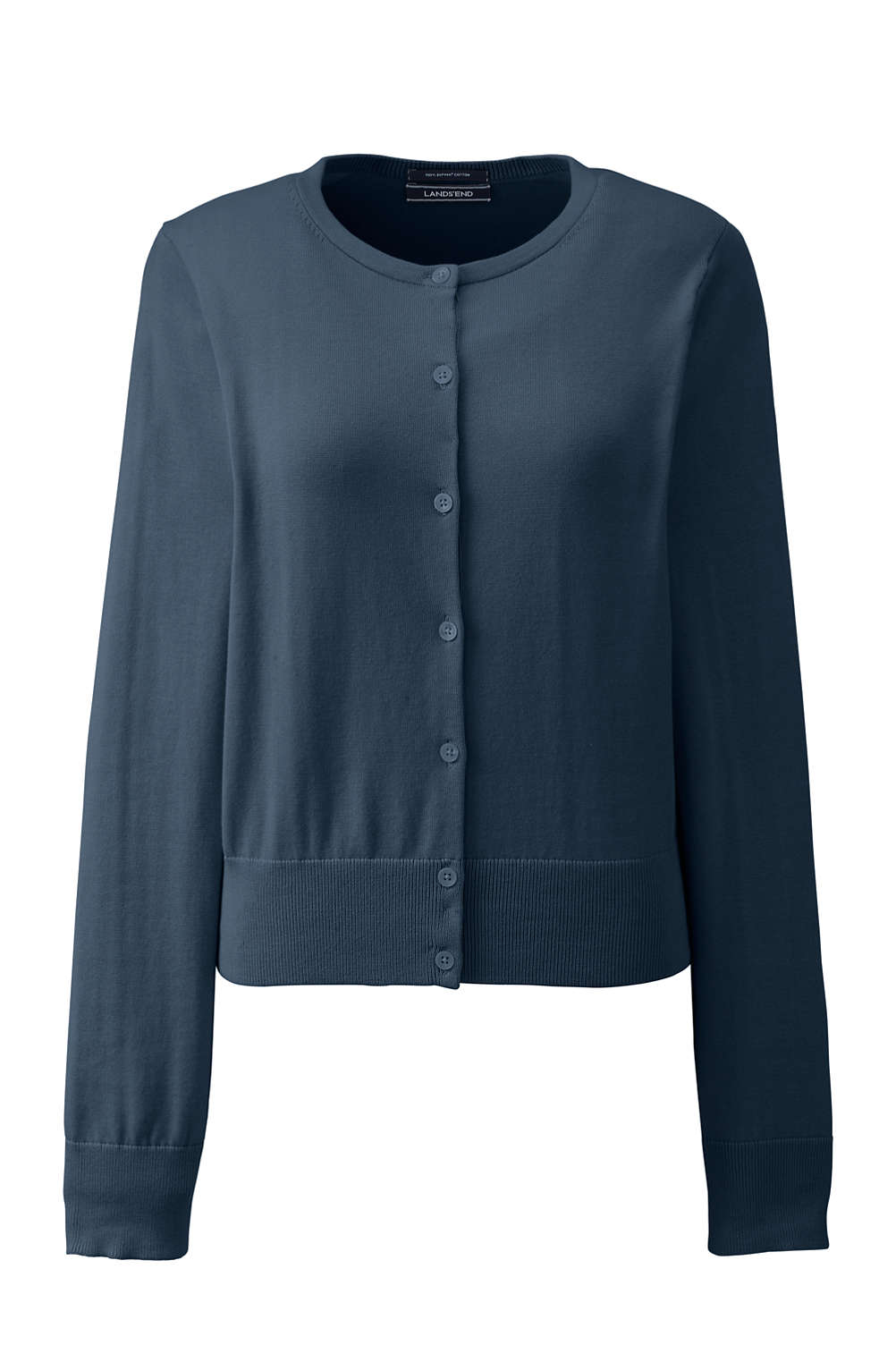8d1b4ee73c Women s Supima Cotton Short Cardigan Sweater from Lands  End