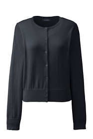 Women's Supima Cotton Short Cardigan Sweater