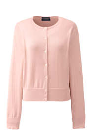 Women's Plus Size Supima Cotton Short Cardigan Sweater