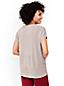 Le Pull en Coton Peigné Col V Manches Dolman, Femme Stature Standard