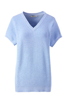 Women's Combed Cotton Dolman V-neck Jumper