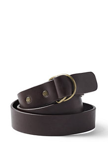 Men's D-Ring Leather Belt