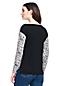 Gemustertes Langarm-Shirt aus Baumwoll/Modalmix