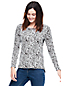 Women's Viscose Blend Leopard Print Jacquard Top