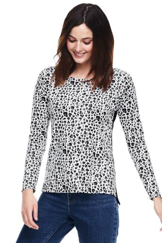 Women's Viscose Blend Leopard Print Jacquard Top