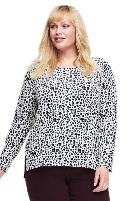 Women's Plus Size Jacquard Top