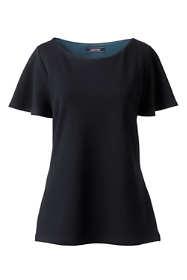 Women's Ponte Flounce Sleeve Top