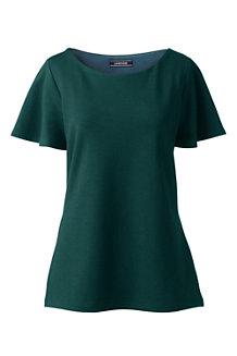 Ponté-Shirt mit Flatterärmeln