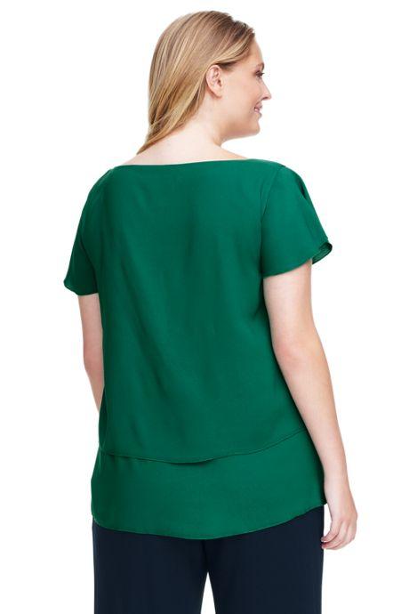 Women's Plus Size Flutter Sleeve Tunic