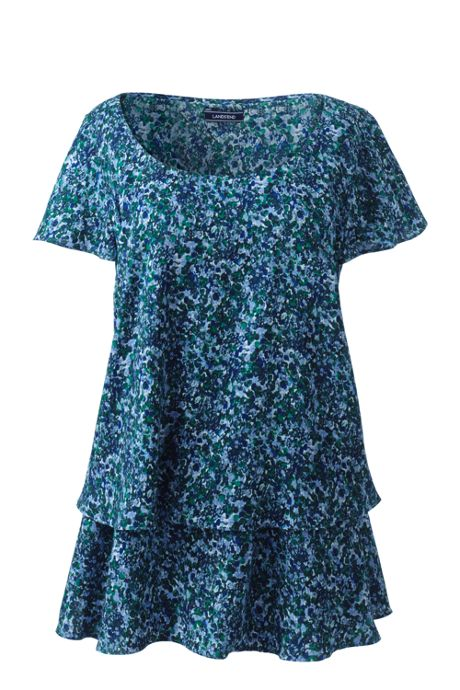 Women's Plus Size Flutter Sleeve Tunic
