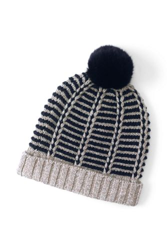 Women's Nautical Stripe Beanie Hat