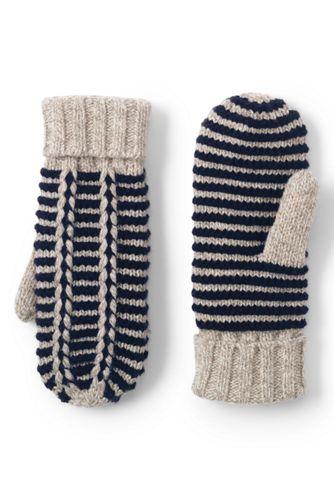 Women's Nautical Striped Mittens