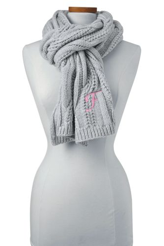 Women's Braided Cable Knitted Scarf