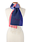 Jacquard-Schal Colorblock für Damen
