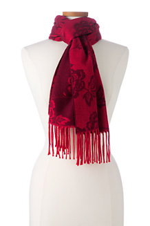 Women's Floral Jacquard Scarf