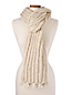 L'Écharpe Tricotée à Franges, Femme