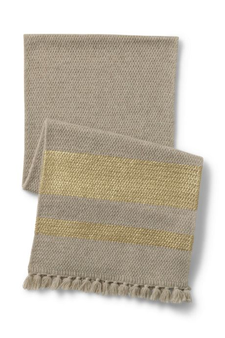 Women's Foil Print Knit Scarf