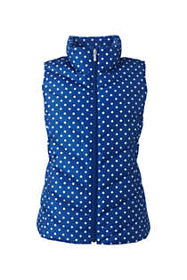 Women's Tall Print Down Puffer Vest, Front