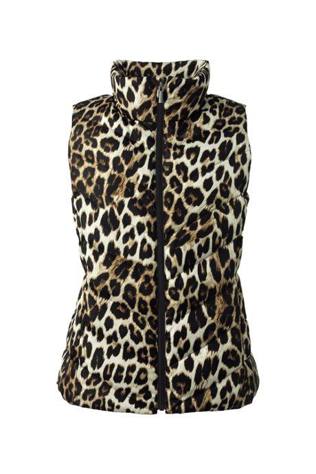 Women's Petite Print Down Puffer Vest