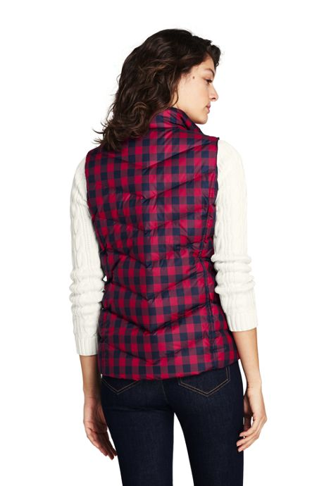 Women's Tall Print Down Vest