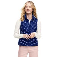 Deals on Lands End Womens Petite Print Down Puffer Vest