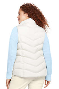 Women's Plus Size Petite Down Puffer Vest, Back
