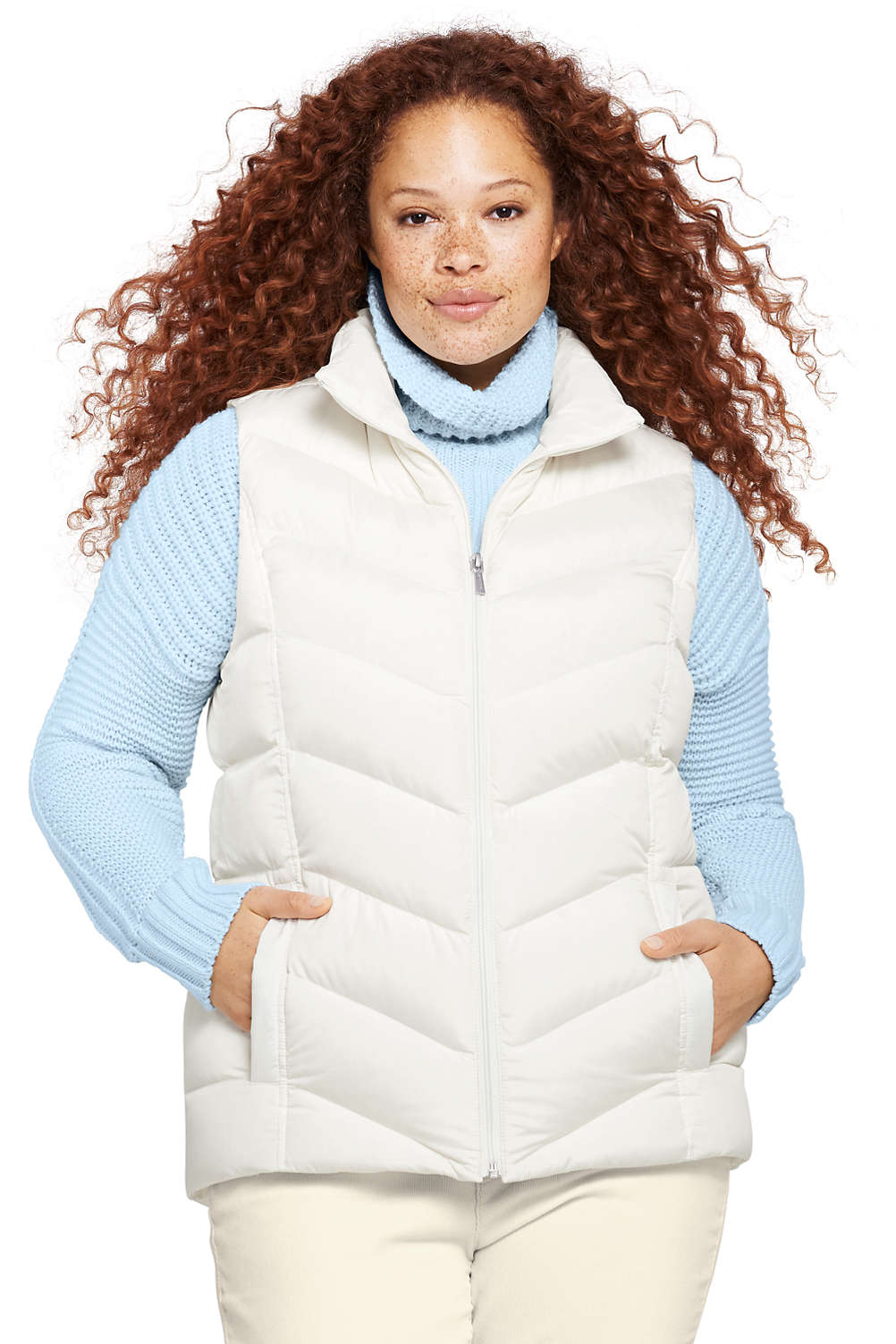 a1f54096f Women's Plus Size Down Puffer Vest from Lands' End