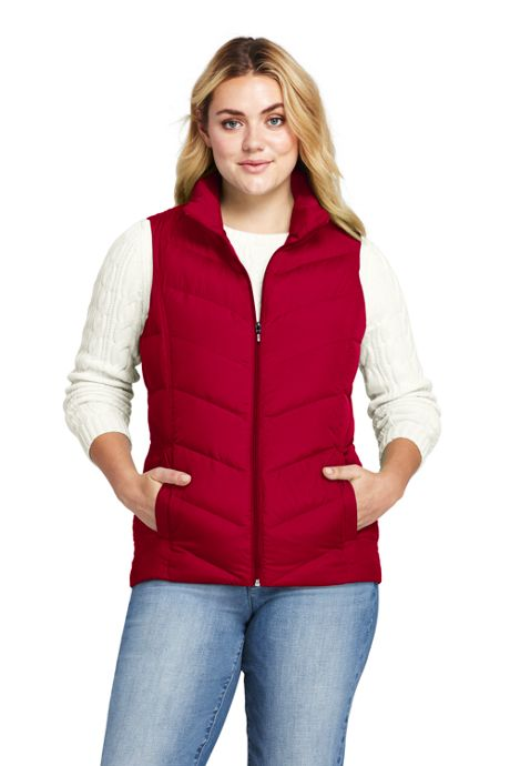 Women's Plus Size Down Puffer Vest