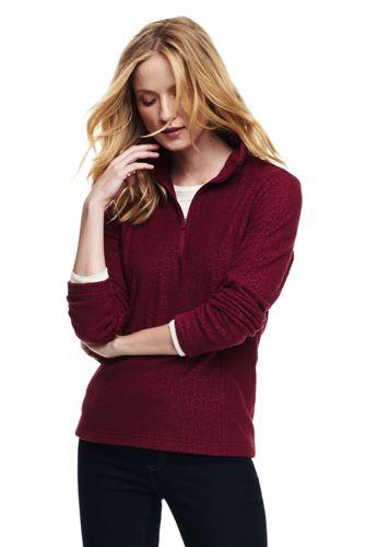 women's fleece half-zip pullover