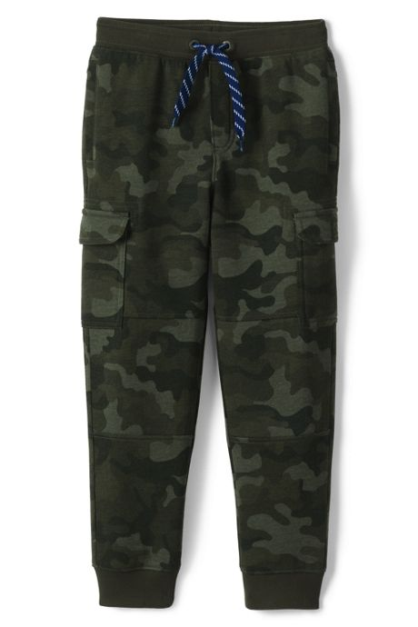 Boys Iron Knee Knit Camo Cargo Joggers