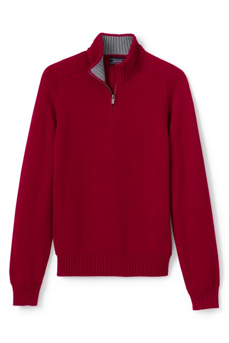Men's Tall Cotton Drifter Jersey Quarter Zip