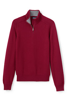 Men's Drifter Zip Neck Cotton Jumper