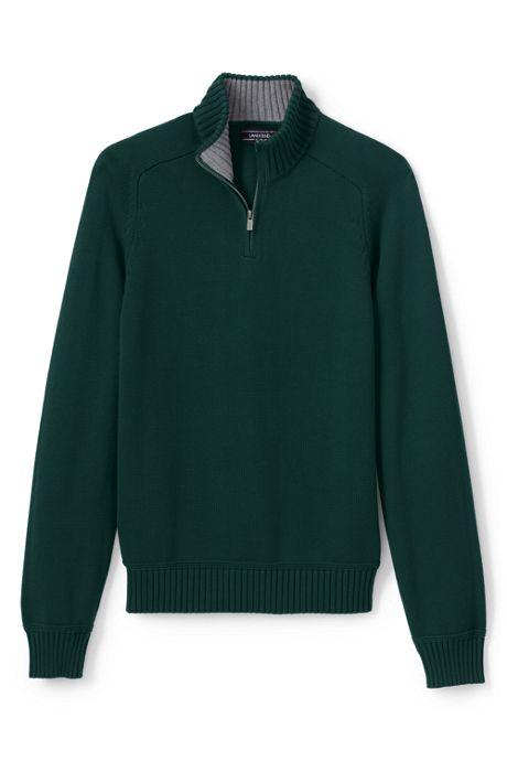 Men's Cotton Drifter Jersey Quarter Zip Sweater