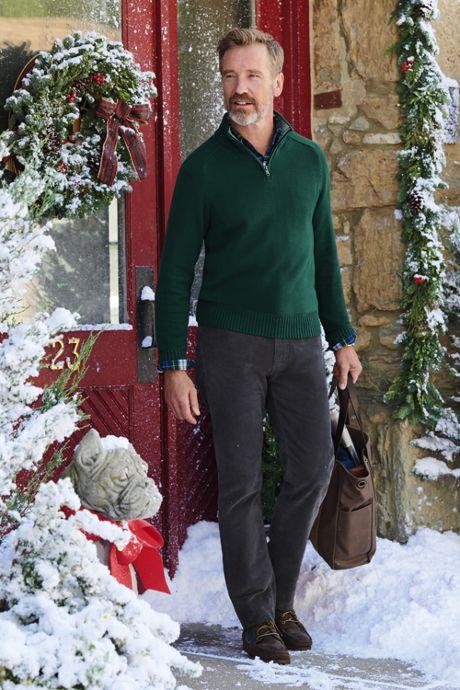 Men's Tall Cotton Drifter Jersey Quarter Zip