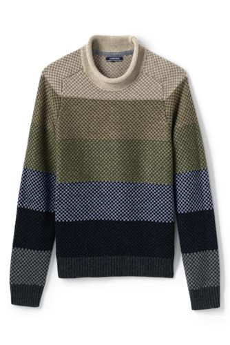Men's Striped Fisherman Jumper