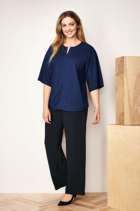 Women's Plus Size Kimono Sleeve Top