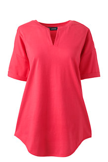 Women's Short Sleeve V-neck Tunic