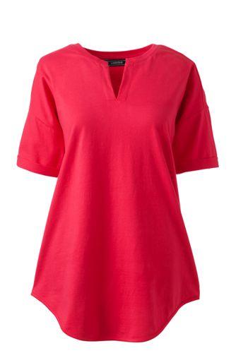 Women's Regular Short Sleeve V-neck Tunic